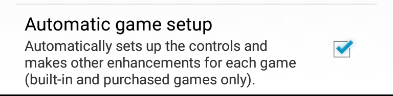 Automatic game setup